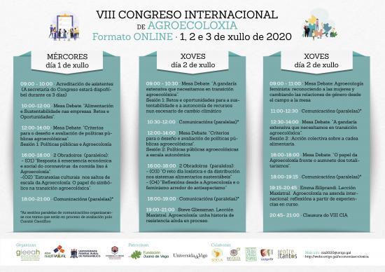 Programa do VIII Congreso Internacional de Agroecoloxía (versión en galego)
